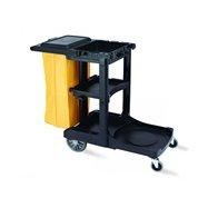 Vozík pre chyžné, plast, s vekom a vakom, 124x55x100 cm