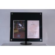 LED informačný displej Securit (2 x A4) - poly-akrylát