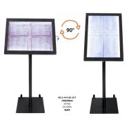 Otočný informačný LED displej Securit (4 x A4) - čierny