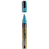 Popisovač Securit s tekutou kriedou 2 - 6 mm - modrá