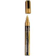 Popisovač Securit s tekutou kriedou 2 - 6 mm - zlatá
