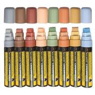 Sada 8 silných popisovačov, šírka hrotu 7-15mm, rôzne prírodné farby