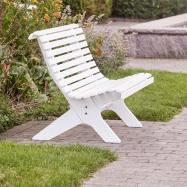 Parková lavička, biela