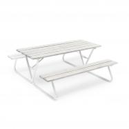 Extra dlhý piknikový stôl, 1800x1800 mm, lavica bez operadla, sivý