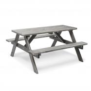 Piknikový stôl, 1500x1350 mm, sivý