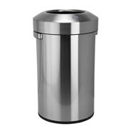 Odpadkový kôš s voľným vhozom 90L, nerez brus