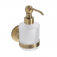 RETRO bronz: Dávkovač tekutého mydla 200ml, sklo MINI