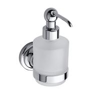 RETRO chróm: Dávkovač tekutého mydla 200ml, sklo MINI
