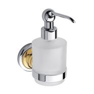 RETRO zlato-chróm: Dávkovač tekutého mydla 200ml, sklo MINI