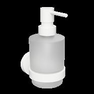 WHITE: Dávkovač tekutého mydla 200ml, sklo MINI