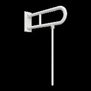 HELP: Sklopný úchyt v tvare U s opornou nohou 750mm, biely, s krytkou