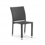 Ratanová záhradné stoličky, čierna
