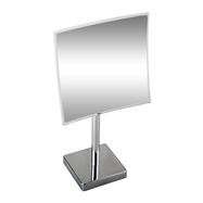 Kozmetické zrkadlo 215x215mm, na postavenie, hranaté, bez osvetlenia, plastový kryt