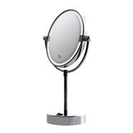 Kozmetické zrkadlo Ø180 mm obojstranné s LED osvetlením na postavenie (biele svetlo)