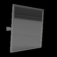 HELP: Výklopné Zrkadlo, nerez 600x600