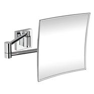 Kozmetické zrkadlo 215x215mm, na ramene, hranaté, bez osvetlenia, plastový kryt