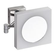 Kozmetické zrkadlo hranaté s LED osvetlením, IP44, touch sensor