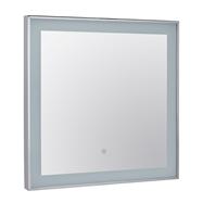 Zrkadlo 600x600x30 zarámované a osvetlené s dotyk.senzorem