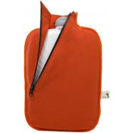 Termofor Hugo Frosch Eco Classic Comfort se softshellovým obalem na zip – oranžový