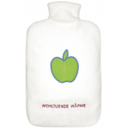 Termofor Hugo Frosch Eco Classic Comfort, dvojitý krémový fleecový obal – motiv jablka