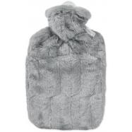 Termofor Hugo Frosch Classic s obalem z umělé kožešiny – šedý s podšívkou