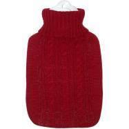Termofor Hugo Frosch Classic s červeným pleteným obalem