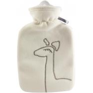 Dětský termofor Hugo Frosch Classic s dvojitým měkkým fleecovým obalem – krémový