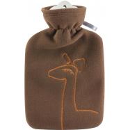 Dětský termofor Hugo Frosch Classic s dvojitým měkkým fleecovým obalem – hnědý