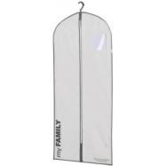 Obal na oblek a dlouhé šaty Compactor Life 60 x 137 cm, bílý polypropylén