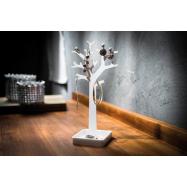 Stojan na šperky ve tvaru stromu Compactor – bílý plast