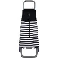 Rolser Jet Marina Joy nákupní taška na kolečkách, černo-bílá