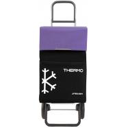 Rolser Termo Fresh MF RG nákupní taška na kolečkách, černo-fialová