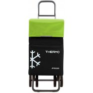Rolser Termo Fresh MF DOS+2 nákupní taška na kolečkách, černo-zelená