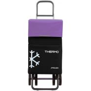 Rolser Termo Fresh MF DOS+2 nákupní taška na kolečkách, černo-fialová