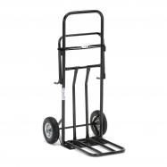 Multifunkčný vozík, držiak na vrecia, nosnosť 100 kg, čierny