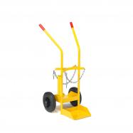 Vozík na tlakové fľaše, 480x1060x260mm, plná gumová kolesá