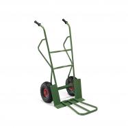 Rudla, 300 kg, pneumatické kolesá, zelený