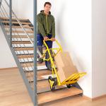 Speciální rudl určený na přepravu zboží po schodištích nebo jiných obdobných nerovnostech s výškou schodu 150-200 mm.  Max. nosnost 200 kg Pro přepravu po schodištích 2x 3 plná gumová kola