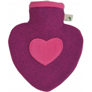 Termofor Hugo Frosch srdce s pleteným obalem - malina