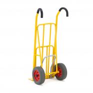 Rudla s naklápacím pedálom, 250 kg, pneumatické kolesá