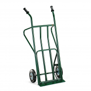 Rudla, 250 kg, plná gumová kolesá, zelený