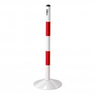 Zahradzovací stĺpik, červeno-biely, kovový, 900 mm