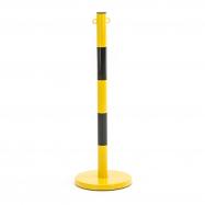 Kovový zahradzovací stĺpik, žltá / čierna