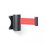 Nástěnná kazeta se samonavíjecí páskou dodávaná včetně držáku pro přichycení druhého konce vysunuté pásky. Pásku lze připevnit i ke sloupku.   Na dlouhodobé vymezení prostorů Prostorově úsporné řešení Vč. držáku pro přichycení pásu