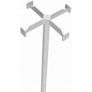Věšák na kabáty Caimi Brevetti Metall 163 cm, bílý - lakovaný kov
