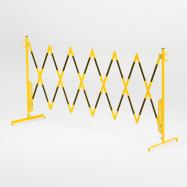 Rozťahovacia zábrana, bez koliesok, max. 3000 mm, žltá / čierna