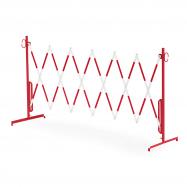 Rozťahovacia zábrana, bez koliesok, max. 3000 mm, červená / biela