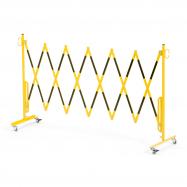 Rozťahovacia zábrana, s kolieskami, max. 3000 mm, žltá / čierna