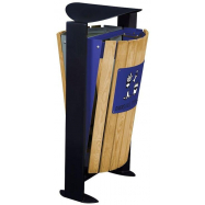 Venkovní koš na tříděný odpad - papír, směsný, Rossignol Arkea 56367, 2x60 L, modrý, šedý