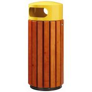 Venkovní odpadkový koš Rossignol Zeno 57884 - 60 L, dřevo, žlutý